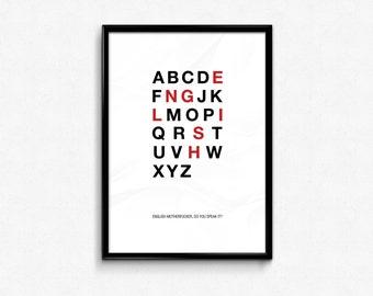 Pulp Fiction - English M*therf*cker Custom Minimal Typography Poster