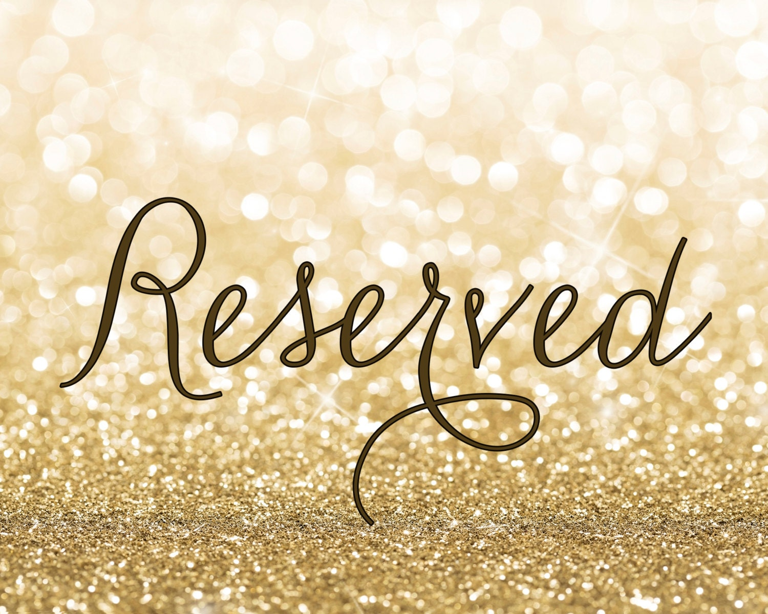This is an image of Fabulous Printable Reserved Signs