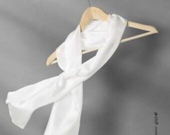 One Long Silk Scarf in lightweight Ponge 5 silk 150 x 40cm