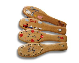 PERSONALISED HAIRBRUSH HANDPAINTED