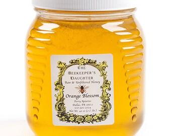 Raw Orange Blossom Honey - 2.5 lb Jar