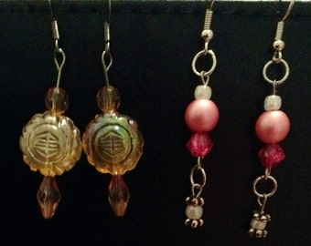 Two pair earring set