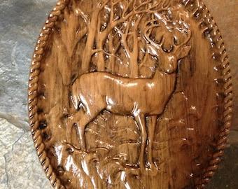Deer Scene Plaque