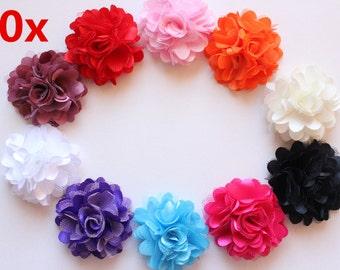 Bulk Wholesale 10 DIY Flowers Embellishments Craft Party Christening Wedding Free Postage