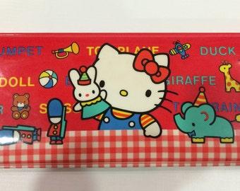 Vintage Hello Kitty Pencil Case 1984 Sanrio made in Japan