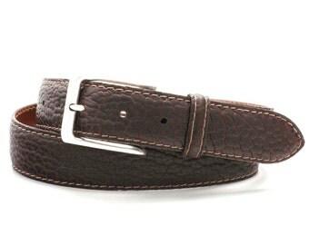 Authentic, Custom Handmade GENUINE  Bison / Buffalo Belt
