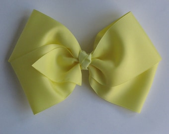 X-Large Boutique Bow | Mega Hairbow for Girls | Jumbo Yellow Hair Bow