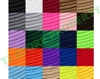 "Round Shoelaces 3/16"" Wide Solid Colors Several Lengths For Sneakers and Shoes"
