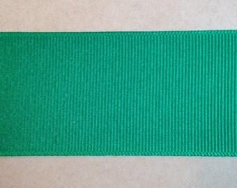 1.5 Inch Emerald Green Grosgrain Ribbon