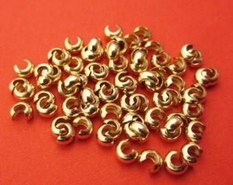 New 3mm 14k Gold Filled Crimp Covers 25pcs