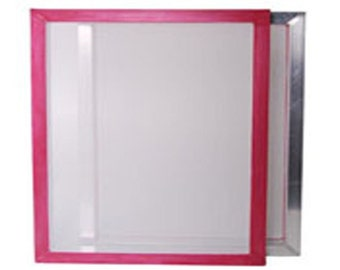 "Silk Screen Printing Frame Screen Stretched with 43T mesh 19"" x 24"" A2"