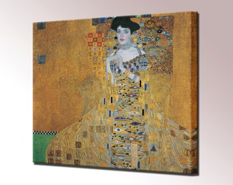 Adele Bloch-Bauer I Woman in Gold Canvas Print Gustav Klimt Framed Wall Art Picture Ready To Hang
