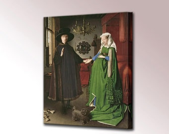 Arnolfini Portrait Canvas Wall Art Print Wedding Jan van Eyck Framed Ready To Hang Decor