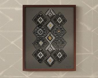 Kilim in Midnight art print