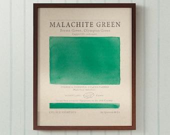 Pigments in Malachite Green art print