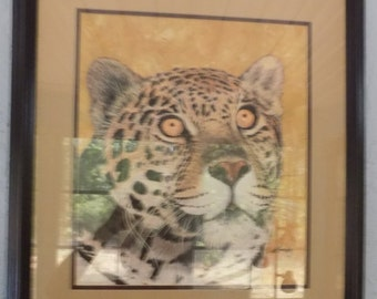 Leopard  acrylic painting