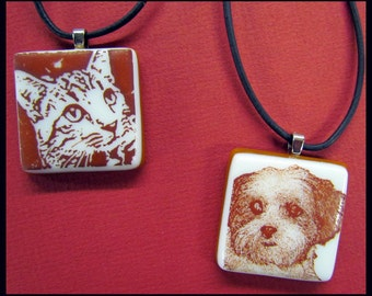 Custom Fused Glass Pet Pendant