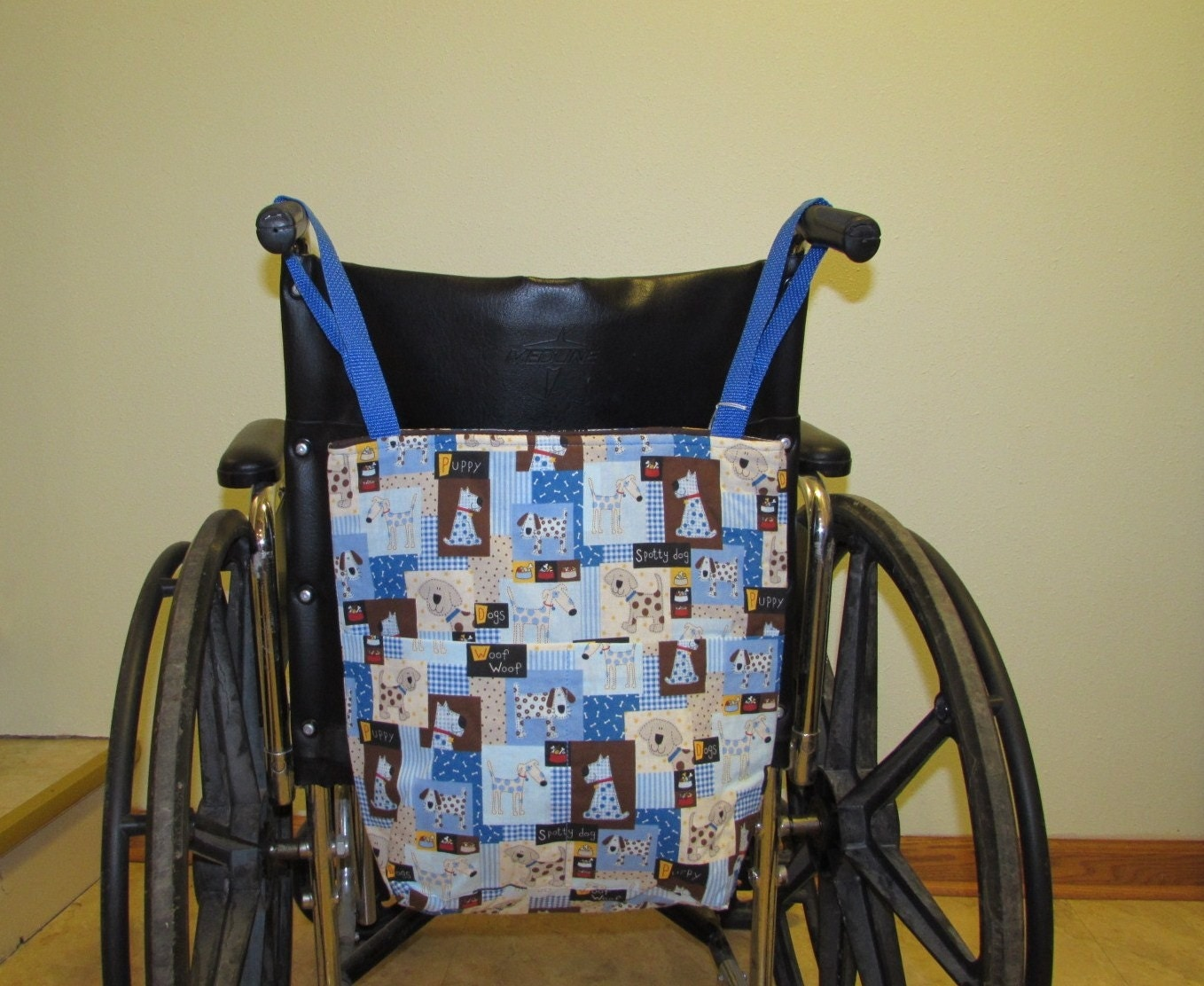 Small Wheelchair Tote Bag Dogs Pattern 335