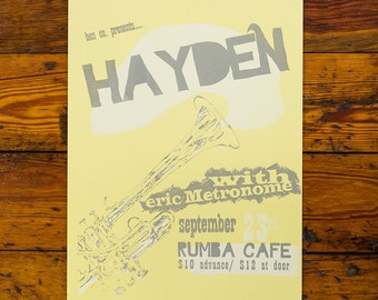 SALE!! Hayden Screenprinted Poster