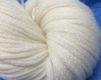 DK Chainette Merino Wool Undyed Yarn, Superwash Merino Wool Yarn, Undyed DK Weight Yarn, Ecru Yarn Base