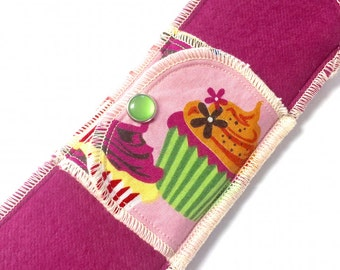Organic Limited Edition Daypad Moonpads Cotton Cloth Pad - Cupcakes