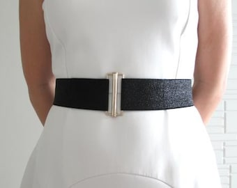 SPARKY Black Buckle Belt