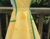 Vintage Yellow Apron Sundress