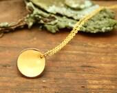 Enameled lucky penny pendant necklace