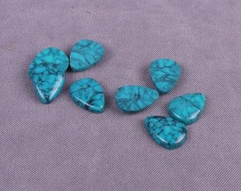 Turquoise Glass Stones 15mm - 50 Pieces (GT15TTD-50)