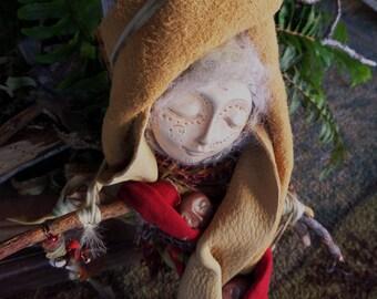 Ooak art dolls, handcrafted doll, Rustic Home Décor, Mixed Media art, Assemblage Art, Griselda Tello