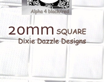 25 square 20 mm epoxy dot, resin drops cabochon bubble dot self adhesive covers stickers for jewelry and scrapbook