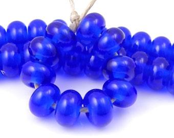 CiM Royal - Handmade Artisan Lampwork Glass Beads 5mmx9mm - SRA (Set of 10 Spacer Beads)