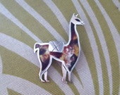 SALE SALE SALE Vintage Sterling Silver Llama Pin 925 Made In Peru With Enameled Body Very Cute Medium Size Llama