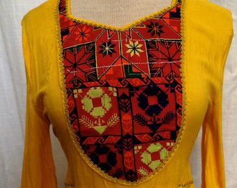 Vintage 1970's Afghanistan Kuchi Dress with Embroidery