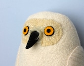 Snowy owl wool doll plush softie
