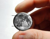25mm 20mm 16mm 12mm 10mm or 8mm Glass Cabochon - Full Moon - for Jewelry and Pendant Making