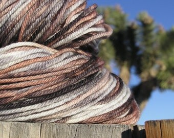 Worsted Weight Yarn - Merino Wool Superwash -   Nubian Goat named Skye