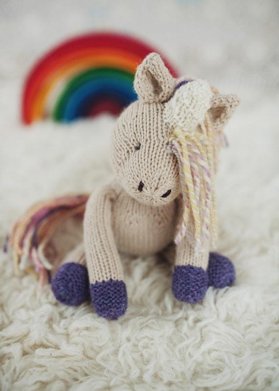 Knitting Pattern For Unicorn Toy : PATTERN Rainflower Unicorn knitting knitted toy from ...