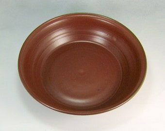 Red Deep Dish Pie Pan Handthrown Stoneware Pottery 5