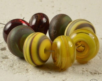 Small Handmade Lampwork Spacers - Matching Pairs