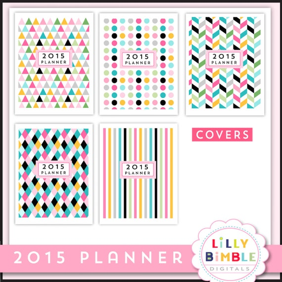 On Sale 2015 Printable Planner 8 5 x 11 letter size monthly calendar