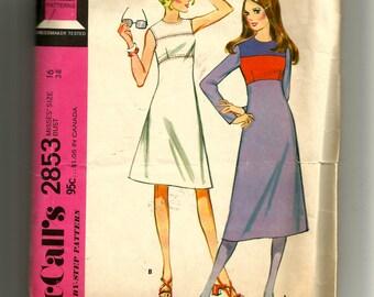 McCall's Misses' Dress Pattern 2853