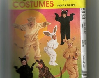 McCalls  Adults Animal Costumes Pattern 8953
