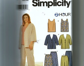 Simplicity Misses' Unlined Jacket, Top, Cropped Pants, and Skirt Pattern 9759