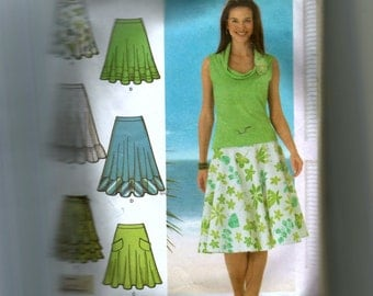 Simplicity Misses' Three Quarter Circle Skirt in Three Lengths Pattern 4546