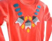 Fancy Necklace - Long Sleeved Baby Bodysuit