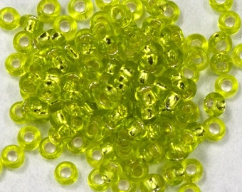 15/0 Silver Lined Chartreuse Japanese Seed Bead (20 gm) #JCO011