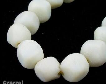 10mm Matte Chalk White Irregular Baroque Bead (50 Pcs) #3424