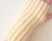 Cream Fingerless Gloves- Warm Accessories Winter, Wrist Warmers, Arm Warmers On Etsy