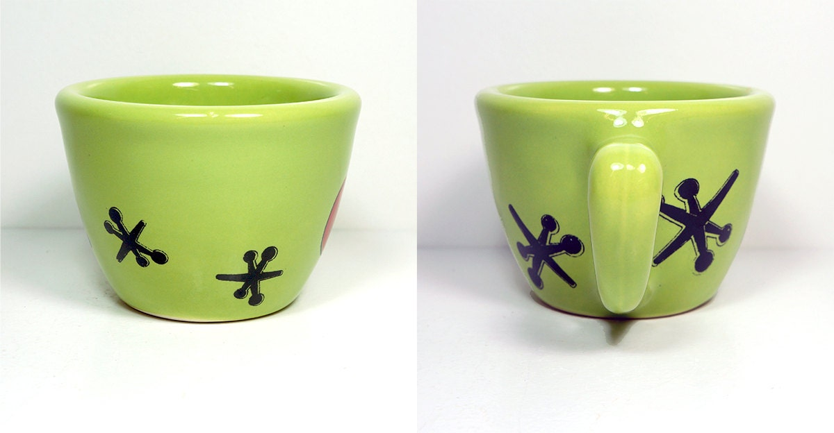 12oz cup in Tinda with Jacks & Ball - Made to Order / Pick Your Colour